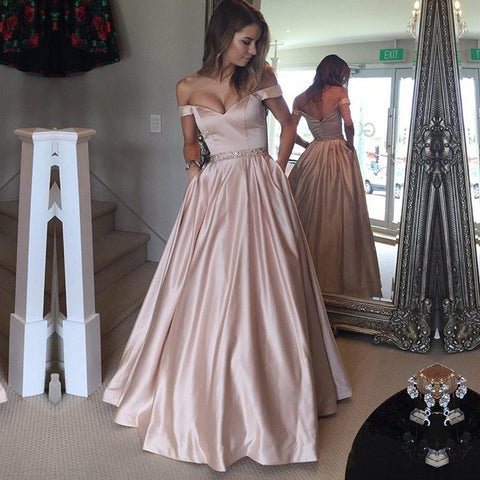 Image of dust-pink-prom-dresses
