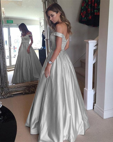 Image of Gray-Prom-Dresses