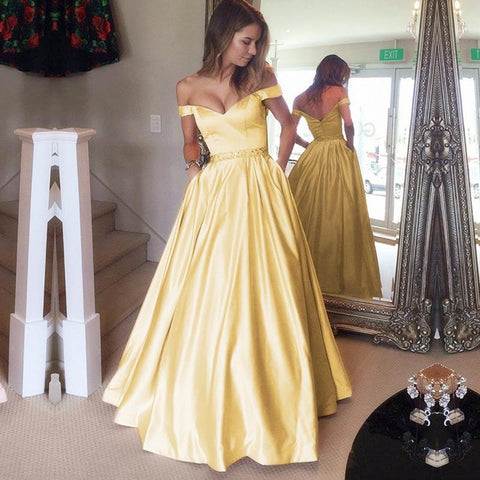 Image of Yellow Prom Long Dress 2020