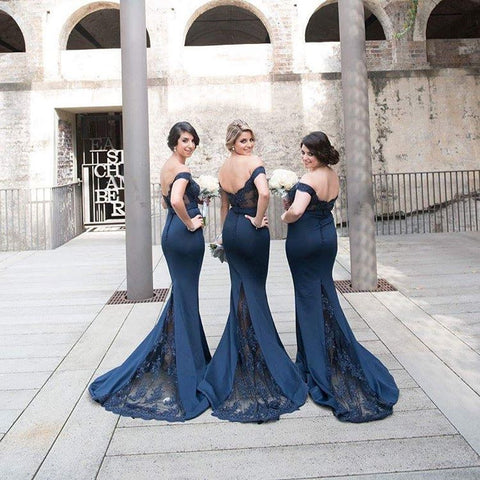 Image of Appliques-Bridesmaid-Dresses