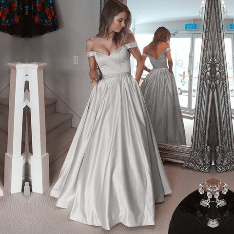 Image of Silver-Prom-Dress
