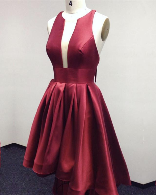 Burgundy-Prom-Dresses-High-Low-Hem-Designer-Style