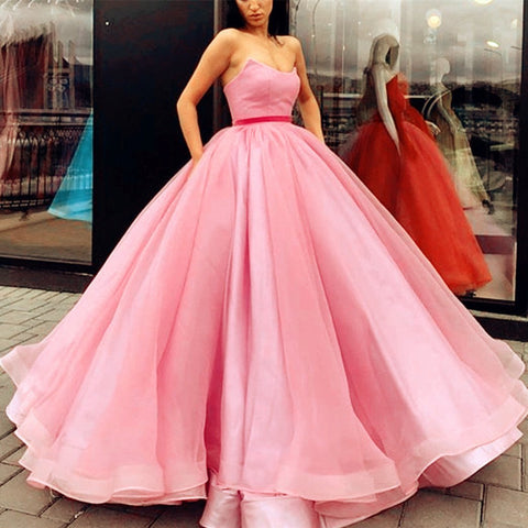 Image of Baby-Pink-Quinceanera-Dresses-Sweet-16-Ballgowns