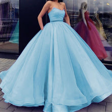 Load image into Gallery viewer, Baby-Blue-Quinceanera-Dresses-Organza-Wedding-Ball-Gowns-Dress