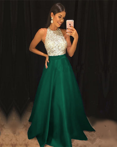 Image of Emerald-Green-Evening-Gown