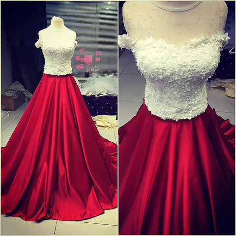 Image of Maroon-Ball-Gowns-Dresses