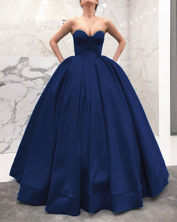 Navy-Blue-Wedding-Gown