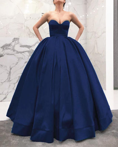 Image of Navy-Blue-Wedding-Dress