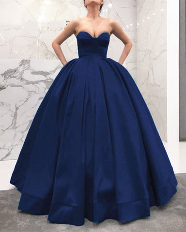 Image of Navy-Blue-Wedding-Gown