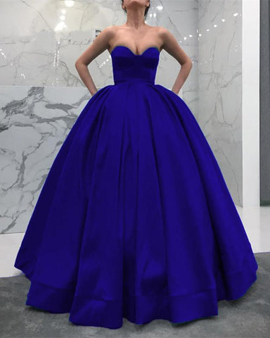 Image of Royal-Blue-Wedding-Dress