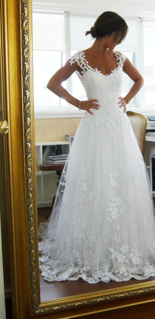 Wedding-Dresses-Cap-Sleeves