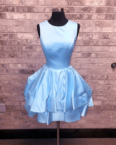 Image of Baby-Blue-Homecoming-Dresses