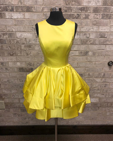 Image of Yellow-Homecoming-Dresses
