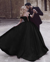 Load image into Gallery viewer, Ball Gown Satin Dresses Velvet Off The Shoulder
