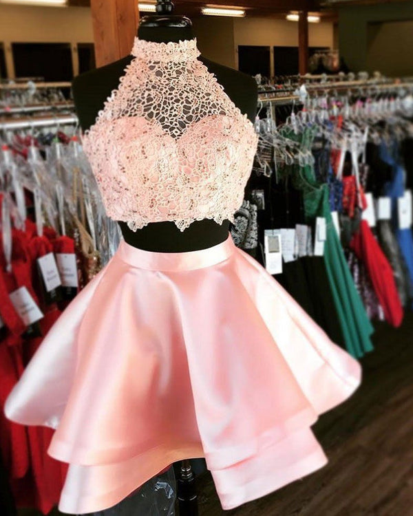Blush Pink Homecoming Dresses Two Piece