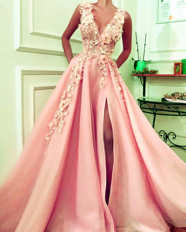 Image of Blush Pink Prom Dresses 2020