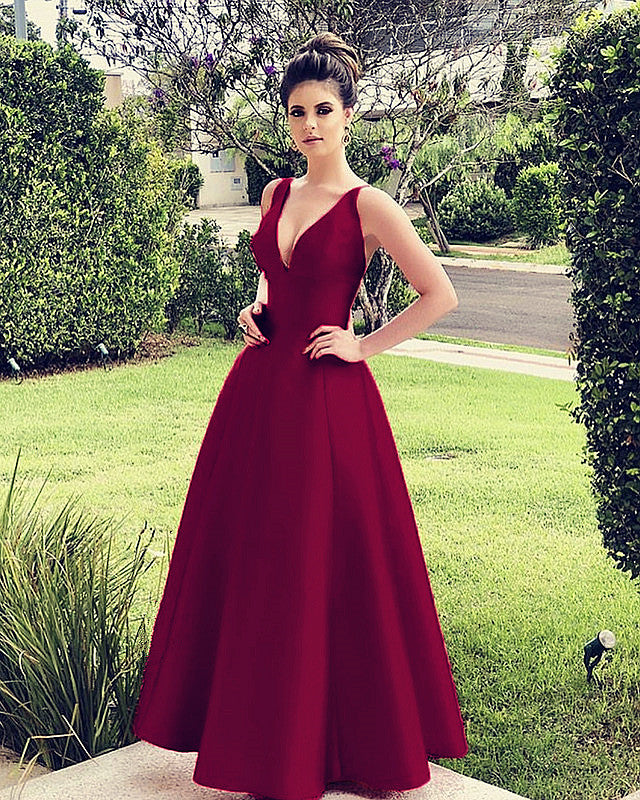 Burgundy Bridesmaid Dresses Long