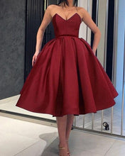 Afbeelding in Gallery-weergave laden, Burgundy Ball Gown Homecoming Dresses 2019