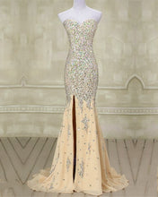 Load image into Gallery viewer, Champagne Mermaid Prom Dresses 2020