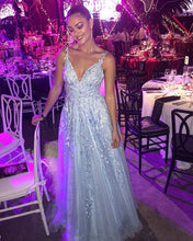 Load image into Gallery viewer, Light Blue Prom Dresses 2020