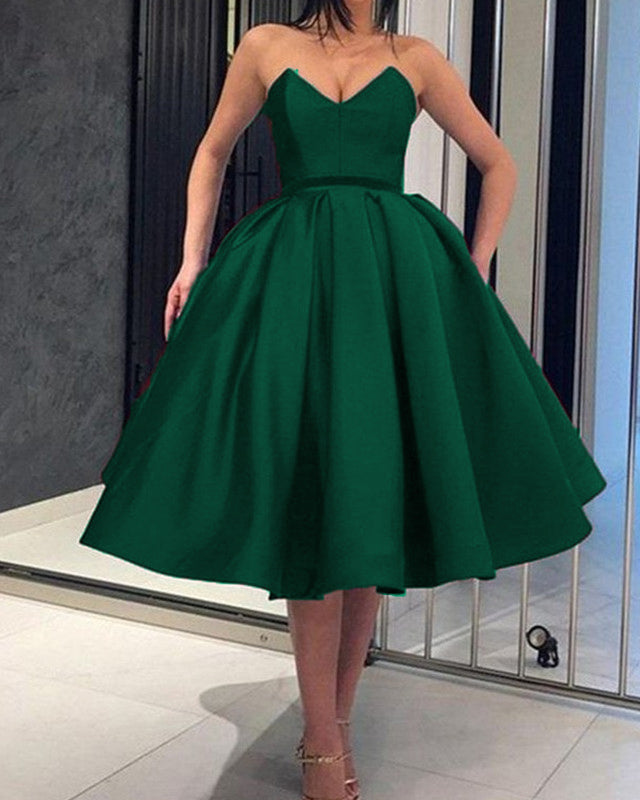 Green Ball Gown Homecoming Dresses 2019