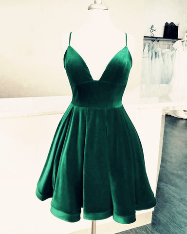 Image of Green Prom Short Dresses