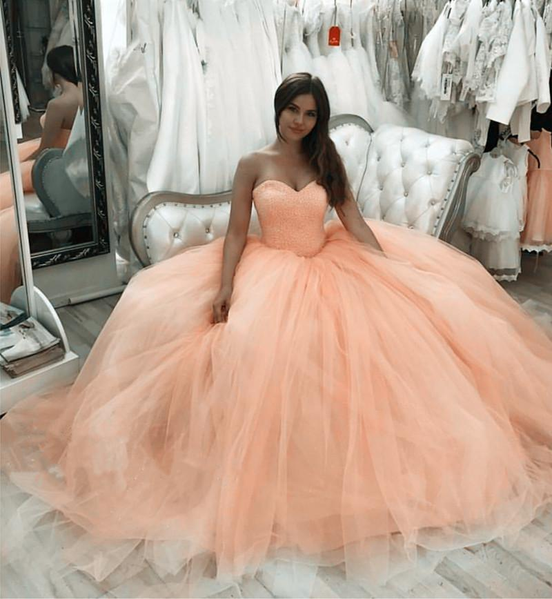 102be01bec Bling Bling Sequin Beaded Sweetheart Bodice Corset Tulle Quinceanera Dresses  Ball Gowns