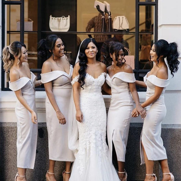 nude-pink-bridesmaid-dresses-sheath-party-dress