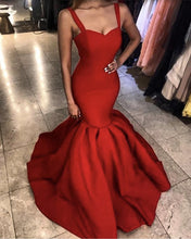 Load image into Gallery viewer, Red-Prom-Dresses-Mermaid-Sweetheart-Evening-Gowns-For-Formal-Occasions