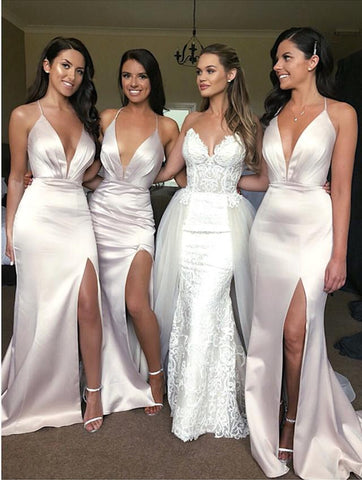 Image of Backless-Evening-Gowns-Long-Mermaid-Party-Maxi-Bridesmaid-Dress