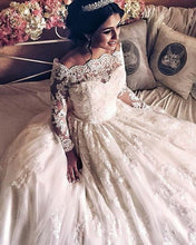 Load image into Gallery viewer, Long-Sleeves-Wedding-Lace-Dresses