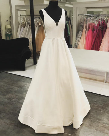Image of Wedding-Dresses-V-neck