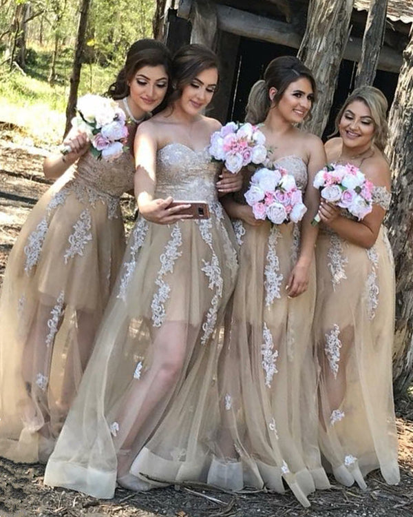 Bridesmaid-Dresses-Champagne