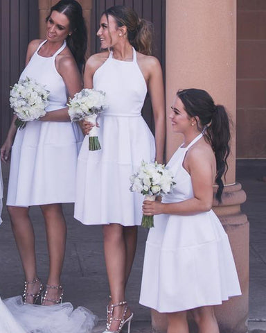 Image of White-Bridesmaid-Dresses