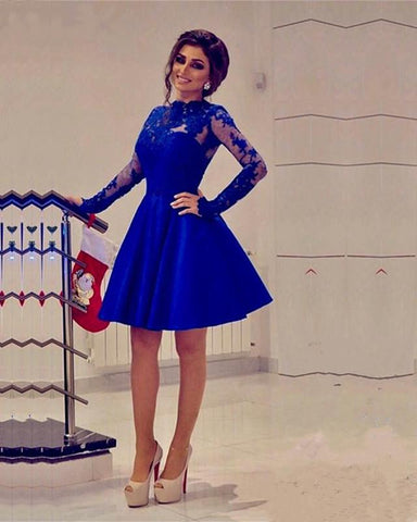 Image of Royal-Blue-Homecoming-Dresses