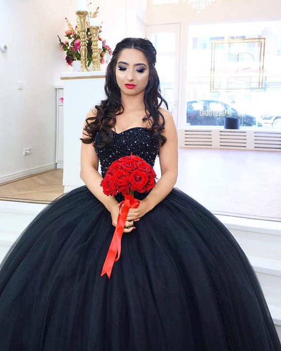 Quinceanera-Dresses-Black
