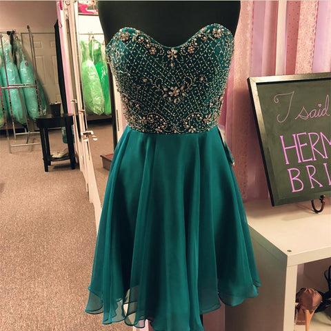Image of Teal-Green-Homecoming-Dresses