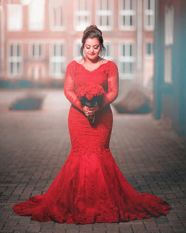 Image of Plus-Size-Prom-Gowns