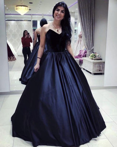 Image of Navy-Blue-Wedding-Dresses-Ball-Gowns