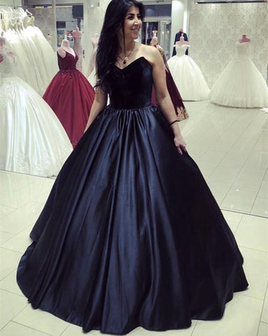 Image of Velvet Corset Floor Length Ball Gowns Prom Dresses