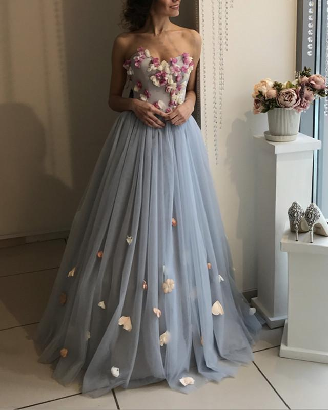 Gray-Wedding-Dresses-Western-Country-Bride-Dress-Online-Affordable