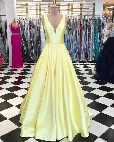 Image of Yellow-Prom-Dresses-Long