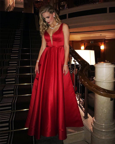 Image of Bridesmaid-Dresses-Red