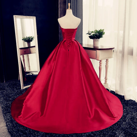 Dark Red Wedding Dresses