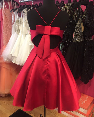 Image of Short-Burgundy-Prom-Dresses