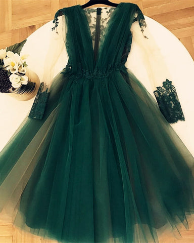 Image of Dark-Green-Homecoming-Dresses