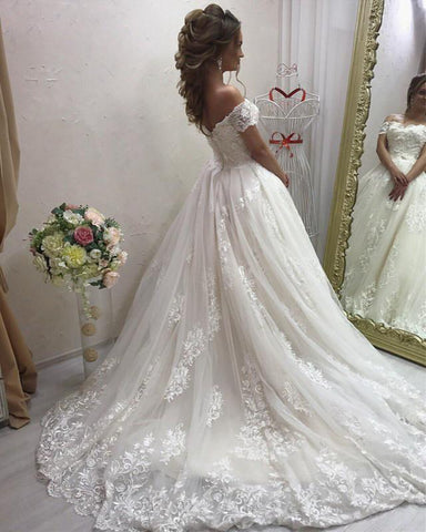 Image of Wedding-Dresses-Vintage-Lace-Bridal-Gowns