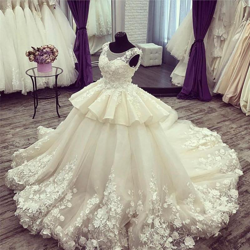 Vintage-Wedding-Ball-Gowns-For-Bridal-2018-Luxurious