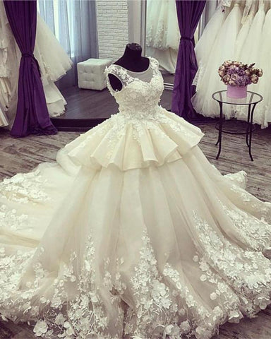 Image of Luxury-Wedding-Dresses-Ball-Gowns