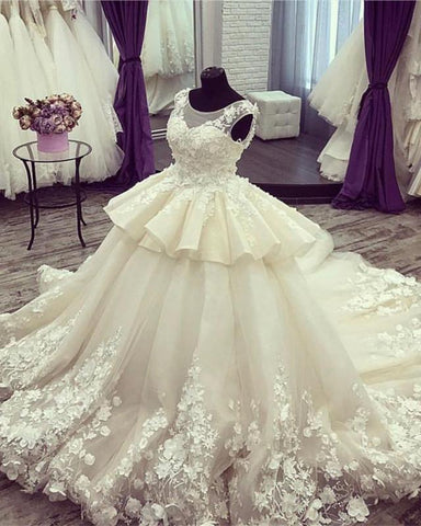 Image of Royal-Wedding-Ball-Gowns-Dress-For-Bride